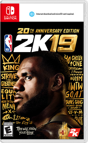 Boxart for NBA 2K19 20th Anniversary Edition